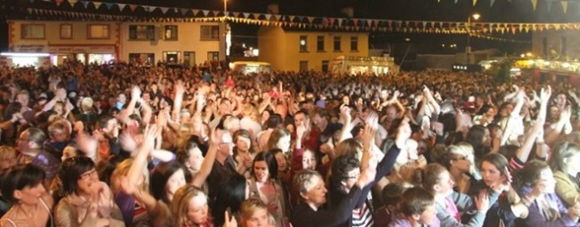 Crowds at the Clonmany festival