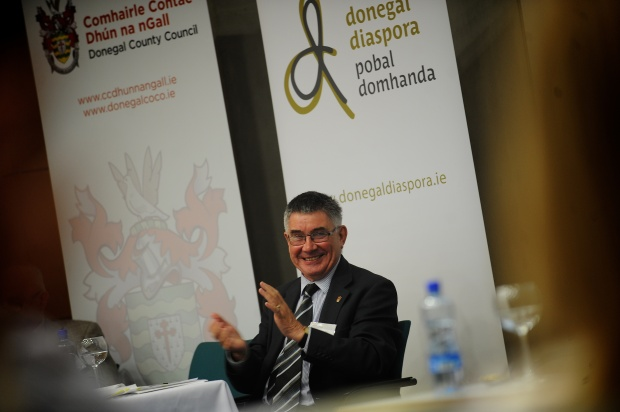 Professor Paul Arthur from the University of Ulster who chaired the 2nd Donegal - Irish Diaspora Conference on Wednesday 4 June in Letterkenny