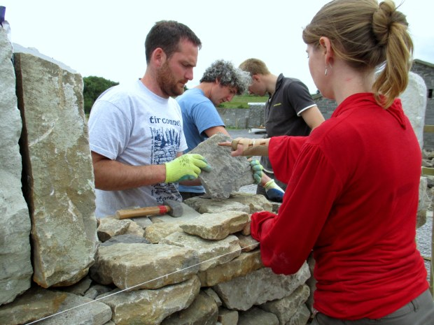 Tirconnell Stone Fest - Wall Building