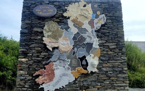 Tirconnel Stone Festival 2016 - Map of Ireland