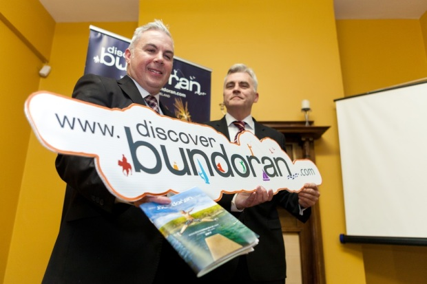 Bundoran Tourism Officer Shane Smyth with Discover Bundoran Vice Chairman John O'Connell - pic Oakfield Photography