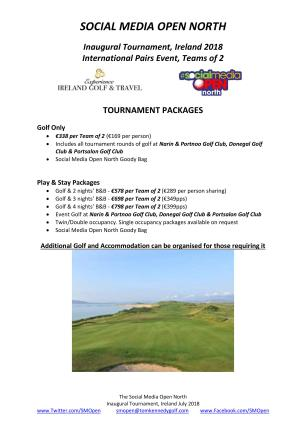 SM Open North - 2018 Itinerary