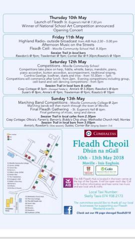 Fleadh_Cheoil-2018-programme