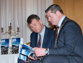 Donegal County Council CE, Seamus Neely and Cathaoirleach of Donegal County Council Cllr. Seamus O'Domhnaill as Donegal's new tourism brochure unveiled - The splendid surroundings of the Villa Rose Hotel in the busy town of Ballybofey played host to the launch of the new Donegal Tourism brochure for 2019. Photo Clive Wasson