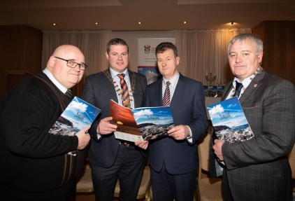 Donegal's new tourism brochure unveiled - The splendid surroundings of the Villa Rose Hotel in the busy town of Ballybofey played host to the launch of the new Donegal Tourism brochure for 2019 at the launch were . Photo Clive Wasson