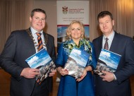 Donegal's new tourism brochure unveiled - The splendid surroundings of the Villa Rose Hotel in the busy town of Ballybofey played host to the launch of the new Donegal Tourism brochure for 2019 at the launch were Cathaoirleach of Donegal County Council Cllr. Seamus O'Domhnaill, Mary Daly, Donegal County Council and Donegal County Council CE, Seamus Neely. Photo Clive Wasson