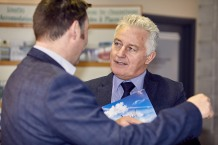 David Roche, Director FinTech Services and Head of Corporate Social Responsibility with Pramerica at launch of Donegal Connect at Donegal Airport on Friday.