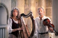 Traditional harpand violin duo, Violaine Mayor and Joel Herrou, will perform at the special Breton Festival Club Night at the Mount Errigal Hotel, Letterkenny, on Wednesday night, April 23rd, from 8.00pm.